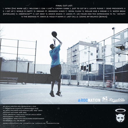 J. Cole The Warmup Back Cover