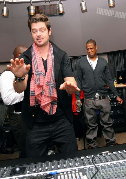 Robin Thicke Jay-Z Thizz Face